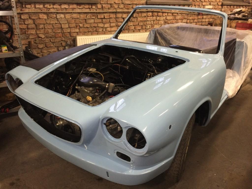 Lancia Flavia Vignale restoration at Soloclassic
