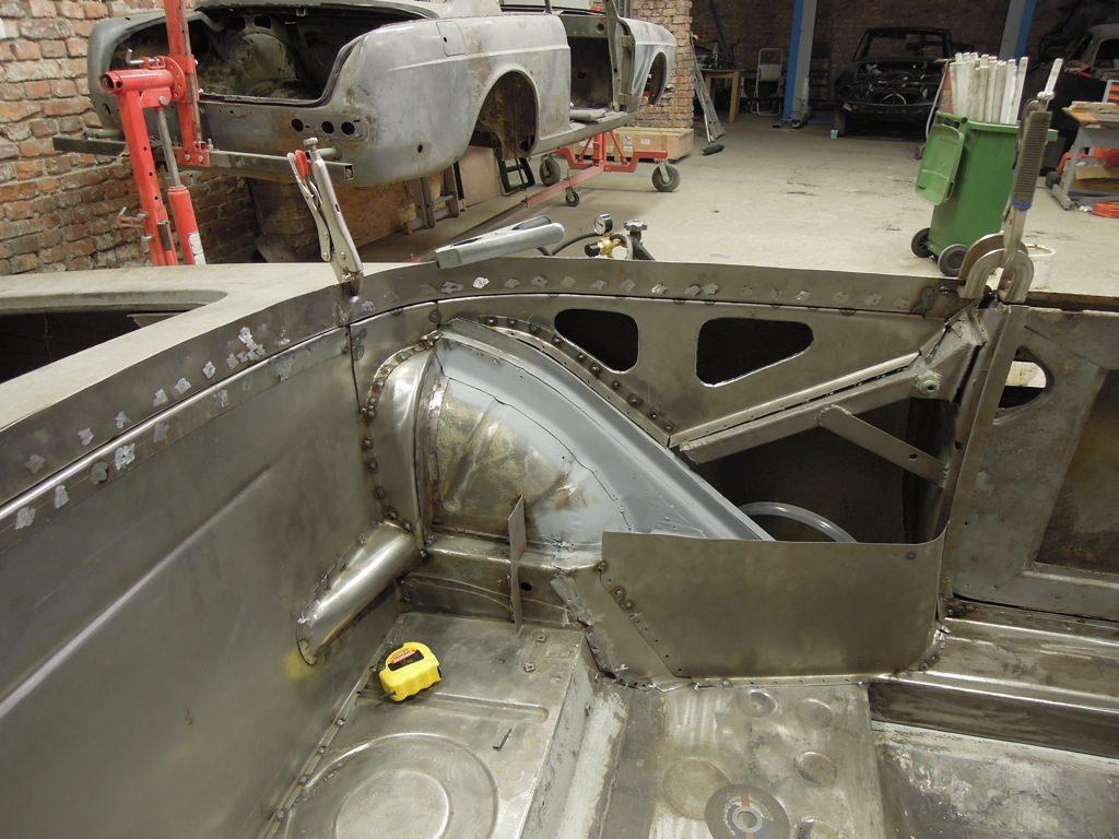 Classic car restoration bodywork